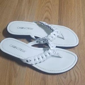 Cabin Creek braided flip flop sandals